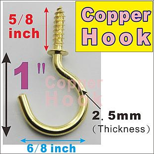 C Hook Copper 1 inch _ 10 x